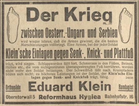 Bielefelder General-Anzeiger v. 27. Juli 1914